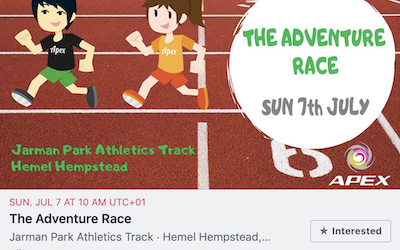 The Adventure Race – Sunday, July 7 AT 10 AM